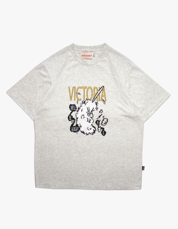 Victoria Hong Kong Duster S/S Tee - Light Grey | HEIGHTS. | 하이츠 온라인 스토어