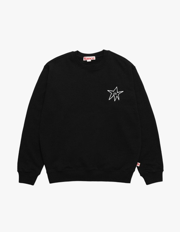 KANCO KANCO STAR SWEATSHIRT black | HEIGHTS. | 하이츠 온라인 스토어
