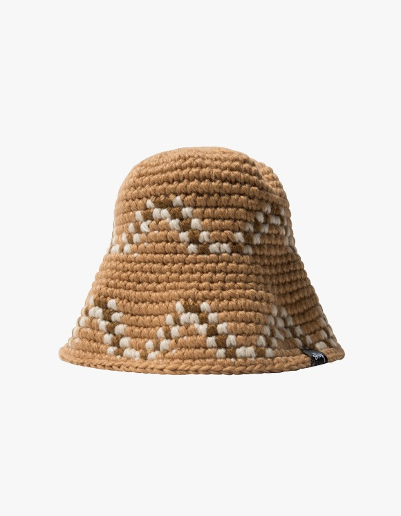 Stussy Giza Knit Bucket Hat - Brown | HEIGHTS. | 하이츠 온라인 스토어