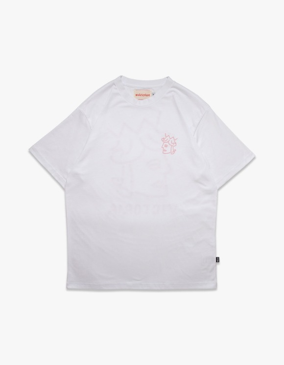 Victoria Hong Kong Queenhead Logo S/S Tee - White | HEIGHTS. | 하이츠 온라인 스토어
