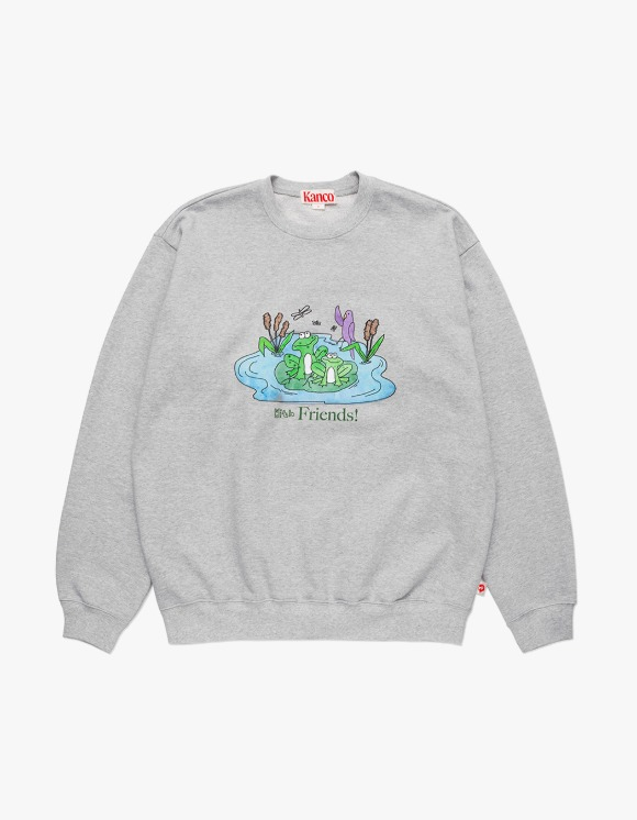 KANCO KANCO FRIENDS SWEATSHIRT heather gray | HEIGHTS. | 하이츠 온라인 스토어