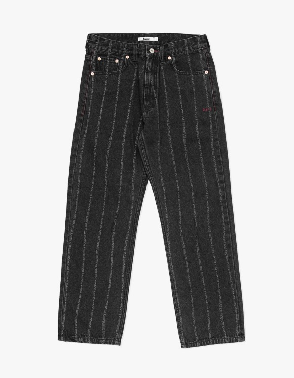 Fuzz FUZZ 001 BIO WASHED STRIPE JEAN black | HEIGHTS. | 하이츠 온라인 스토어