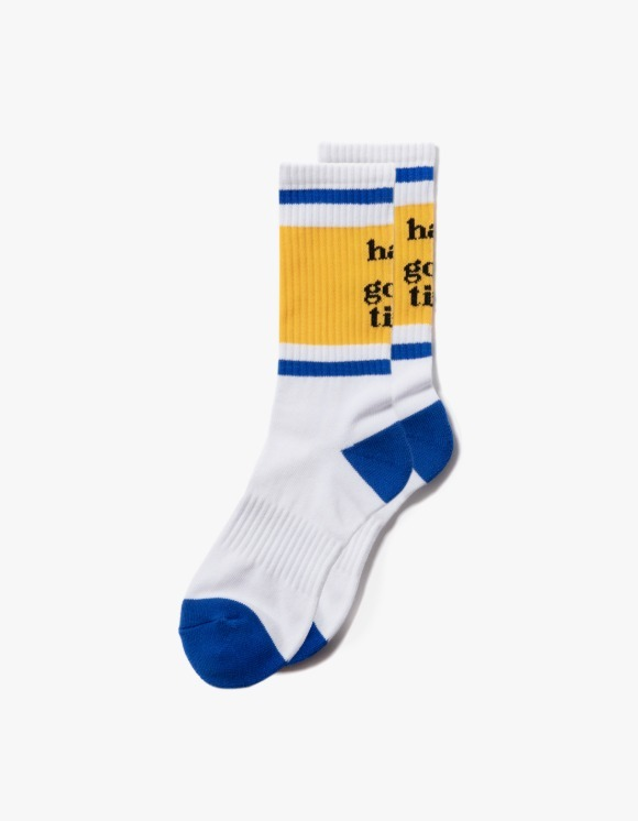 have a good time Line Socks - Yellow/Blue | HEIGHTS. | 하이츠 온라인 스토어