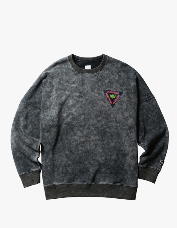Liberaiders Acid Wash Crew Neck - Black | HEIGHTS. | 하이츠 온라인 스토어