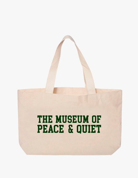 Museum Peace & Quiet Campus Tote Bag - Natural | HEIGHTS. | 하이츠 온라인 스토어