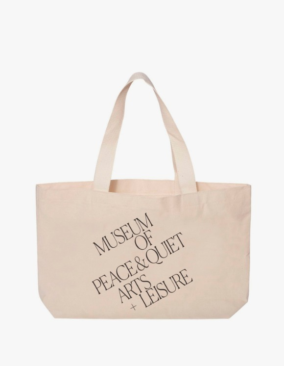 Museum Peace & Quiet Arts + Leisrue Tote Bag - Natural | HEIGHTS. | 하이츠 온라인 스토어