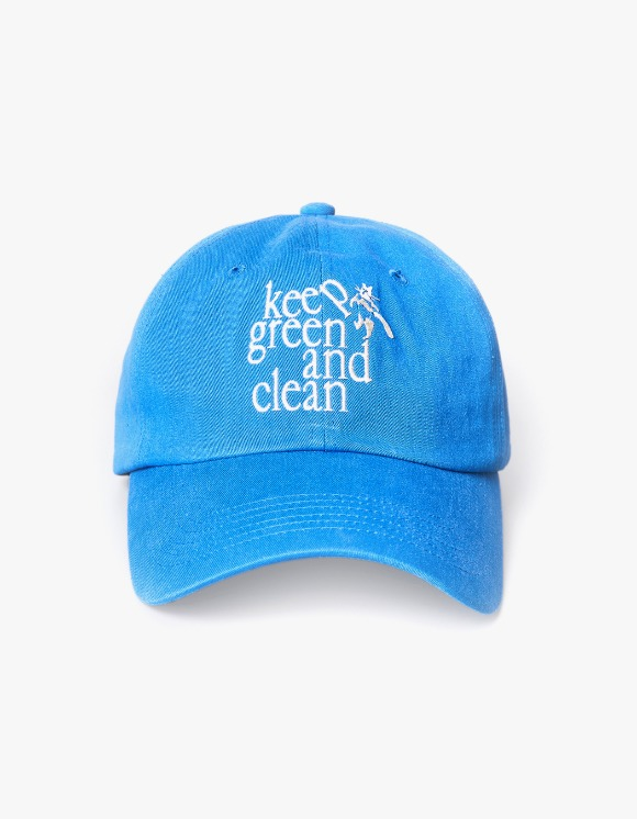 Enzo Blues Keep Green and Clean Ballcap - Blue | HEIGHTS. | 하이츠 온라인 스토어