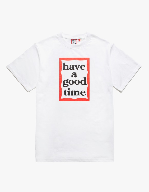 have a good time Frame S/S Tee - White | HEIGHTS. | 하이츠 온라인 스토어