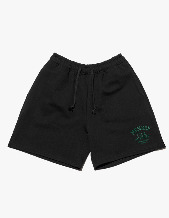 Club Activity Member Sweat Short - Black | HEIGHTS. | 하이츠 온라인 스토어