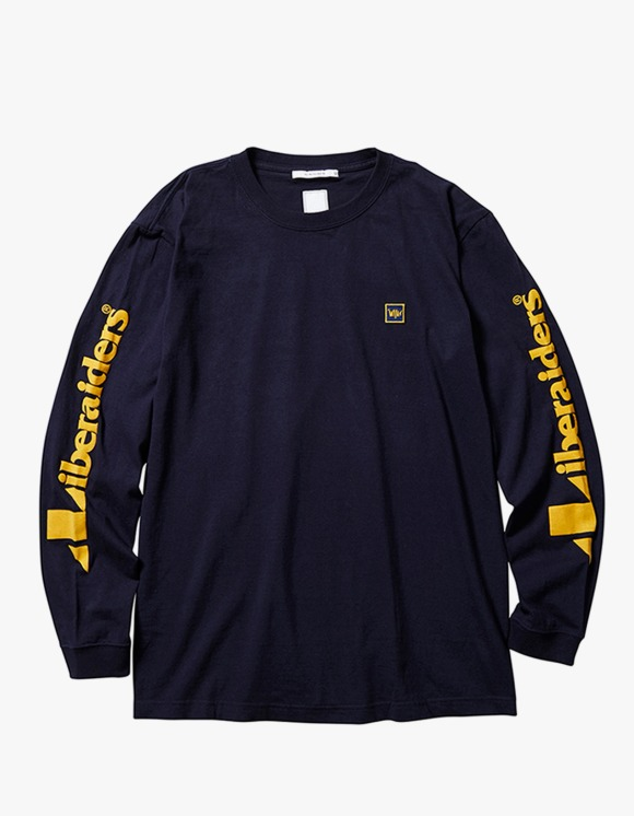 Liberaiders Triangle Logo L/S Tee - Navy | HEIGHTS. | 하이츠 온라인 스토어