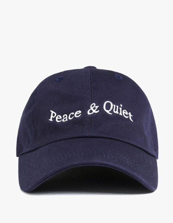 Museum Peace & Quiet Wordmark Cap - Navy | HEIGHTS. | 하이츠 온라인 스토어
