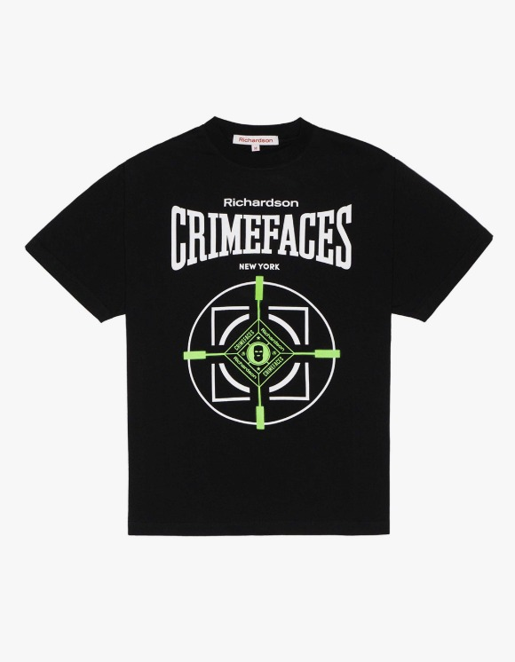 Richardson Crime Faces S/S Tee - Black | HEIGHTS. | 하이츠 온라인 스토어