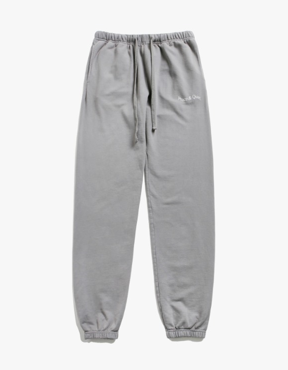Museum Peace & Quiet Wordmark Sweat Pants - Grey | HEIGHTS. | 하이츠 온라인 스토어