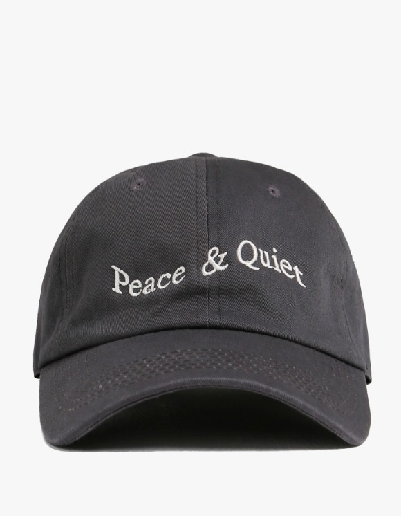 Museum Peace & Quiet Wordmark Cap - Grey | HEIGHTS. | 하이츠 온라인 스토어