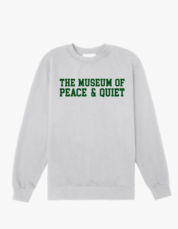Museum Peace & Quiet Campus Crewneck - Grey | HEIGHTS. | 하이츠 온라인 스토어
