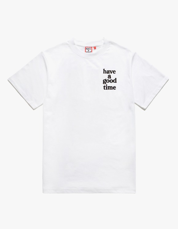 have a good time Logo Embroidered S/S Tee - White | HEIGHTS. | 하이츠 온라인 스토어