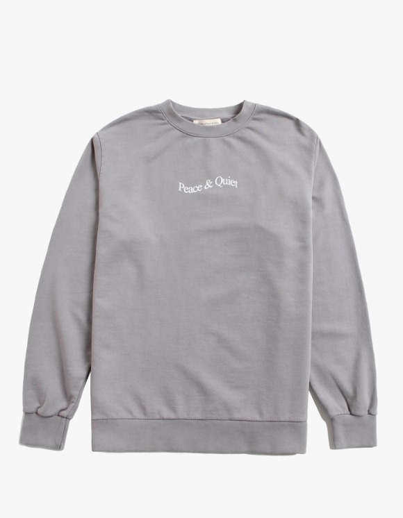 Museum Peace & Quiet Wordmark Crewneck - Grey | HEIGHTS. | 하이츠 온라인 스토어