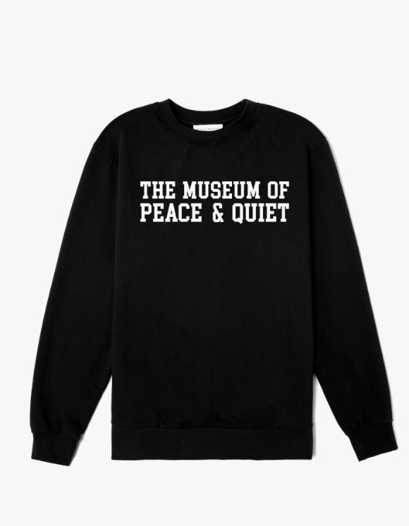 Museum Peace & Quiet Campus Crewneck - Black | HEIGHTS. | 하이츠 온라인 스토어