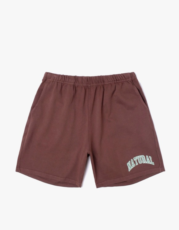 Museum Peace & Quiet Natural Gym Shorts - brown | HEIGHTS. | 하이츠 온라인 스토어