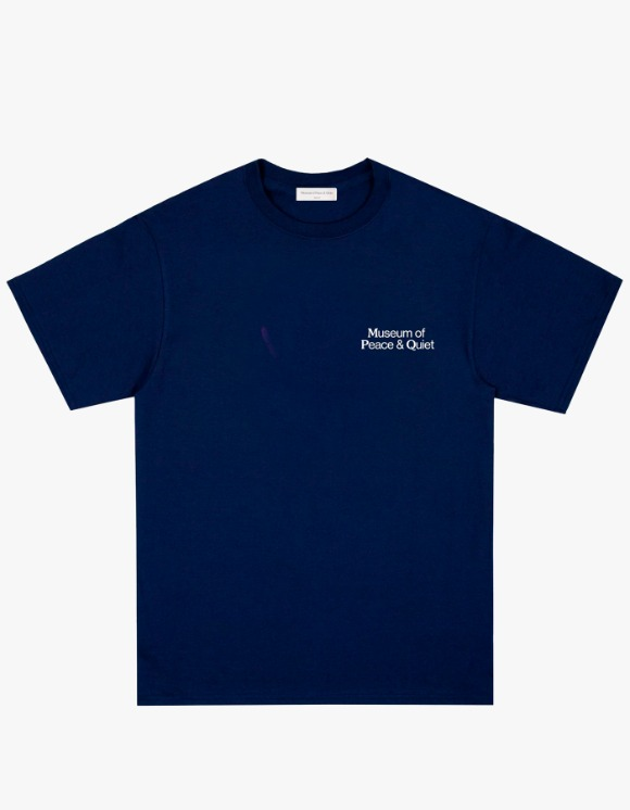 Museum Peace & Quiet Bless The Waters S/S Tee - Navy | HEIGHTS. | 하이츠 온라인 스토어