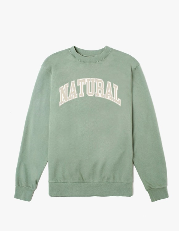 Museum Peace & Quiet Natural Crewneck - Sage | HEIGHTS. | 하이츠 온라인 스토어