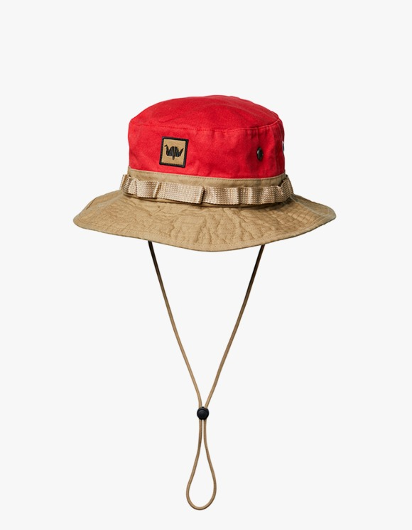 Liberaiders Washed Canvas Jungle Hat - Red | HEIGHTS. | 하이츠 온라인 스토어