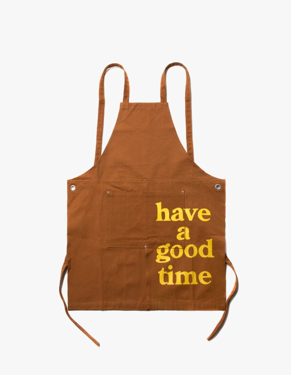 have a good time Logo Apron - Brown | HEIGHTS. | 하이츠 온라인 스토어