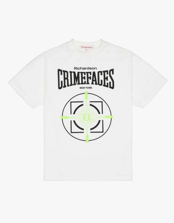 Richardson Crime Faces S/S Tee - White | HEIGHTS. | 하이츠 온라인 스토어