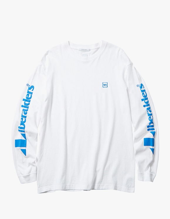 Liberaiders Triangle Logo L/S Tee - White | HEIGHTS. | 하이츠 온라인 스토어