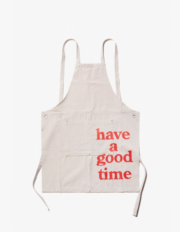 have a good time Logo Apron - White | HEIGHTS. | 하이츠 온라인 스토어