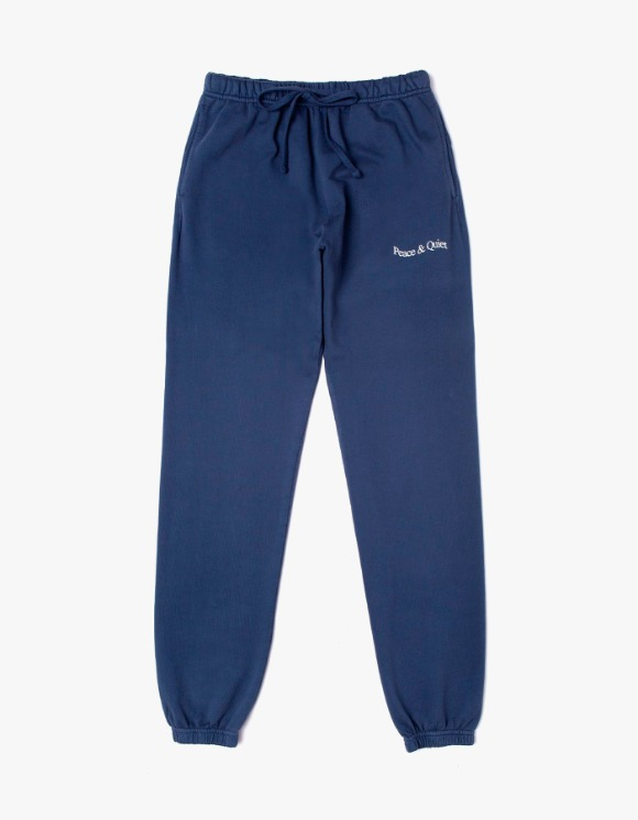 Museum Peace & Quiet Wordmark Sweat Pants - Navy | HEIGHTS. | 하이츠 온라인 스토어