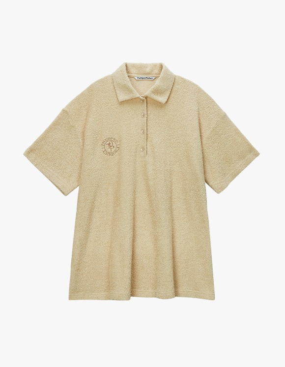 TheOpen Product Terry Collared S/S Tee - Beige | HEIGHTS. | 하이츠 온라인 스토어
