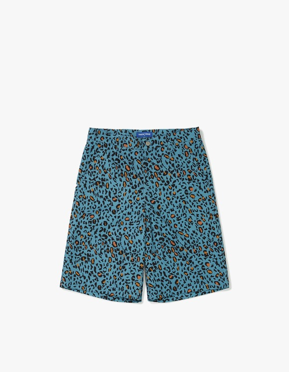 Know Wave [5월 27일 예약발송] Leopard Cotton Shorts - Teal Blue | HEIGHTS. | 하이츠 온라인 스토어