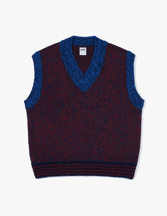 Know Wave Brooklyn Knit Vest - Navy/red | HEIGHTS. | 하이츠 온라인 스토어