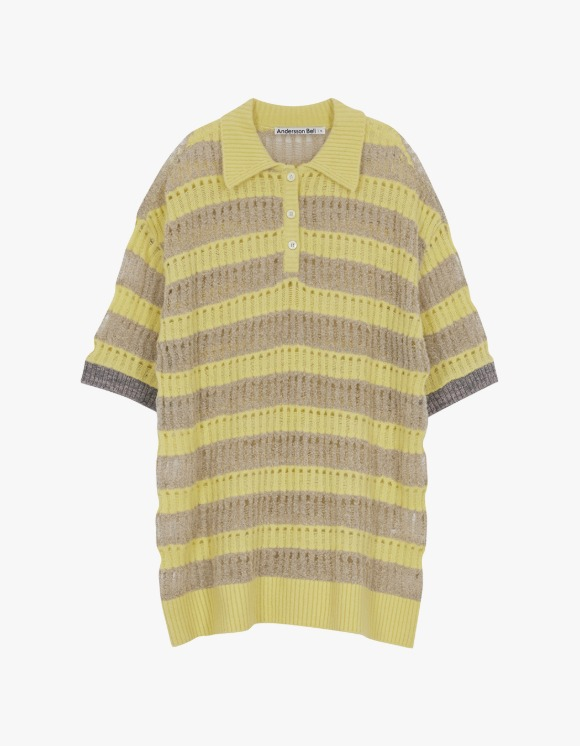 Andersson Bell Moana Bubble Knit Polo Top - Yellow | HEIGHTS. | 하이츠 온라인 스토어
