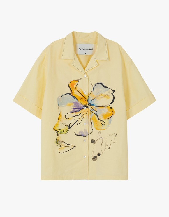 Andersson Bell Fleur Printed Shirts - Lemon | HEIGHTS. | 하이츠 온라인 스토어