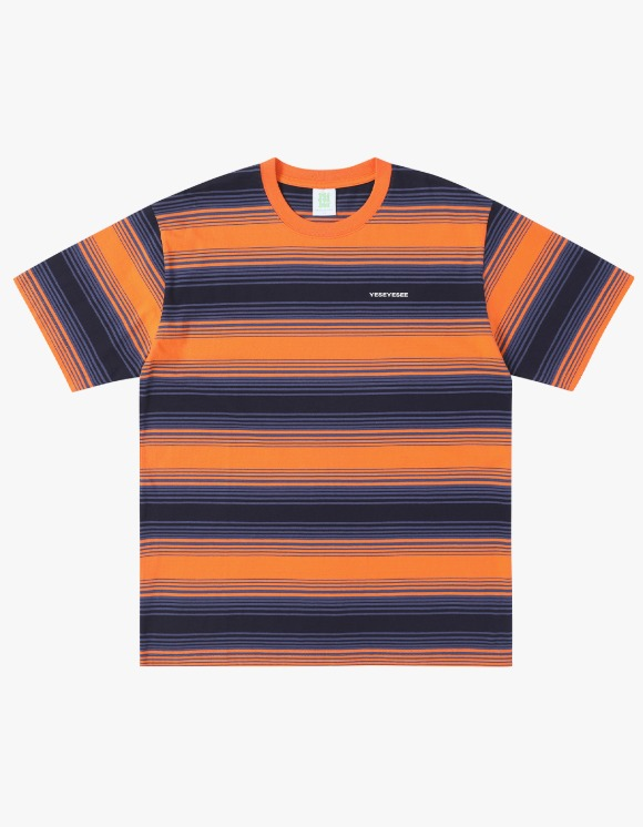 yeseyesee Y.E.S Stripe Tee Orange | HEIGHTS. | 하이츠 온라인 스토어