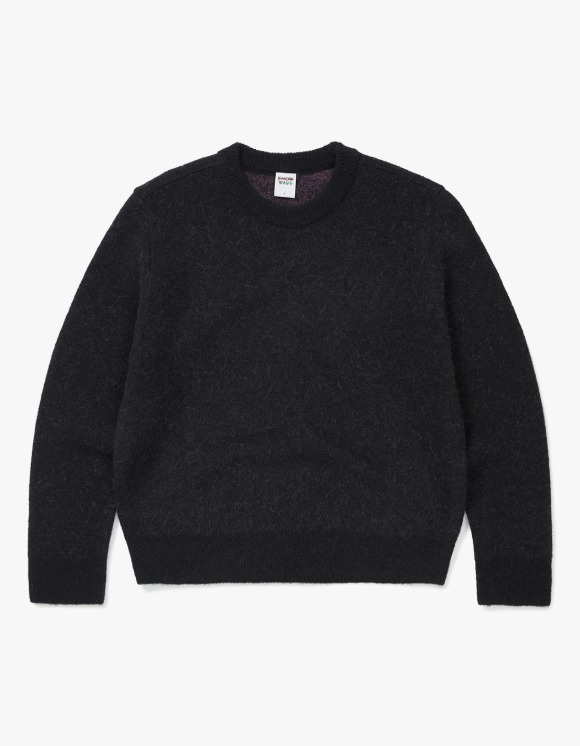 Know Wave Knowwave Mohair Jacquard Sweater - Black | HEIGHTS. | 하이츠 온라인 스토어