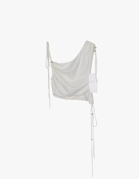 Andersson Bell Sofie Drape String Top - Ivory | HEIGHTS. | 하이츠 온라인 스토어