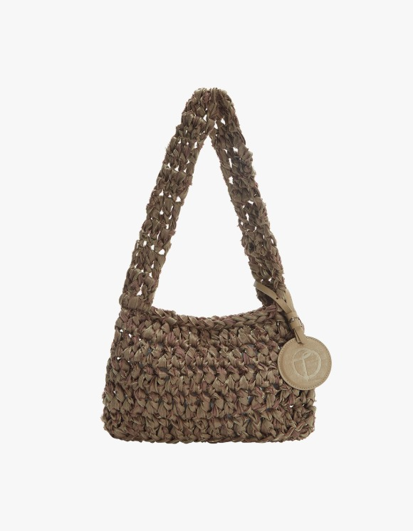 TheOpen Product Knitted Shoulder Bag Nothing Everything Collab - Brown | HEIGHTS. | 하이츠 온라인 스토어