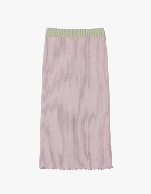 Andersson Bell Harmony Two-Tone Reversible Knit Skirt - Pink x Green | HEIGHTS. | 하이츠 온라인 스토어