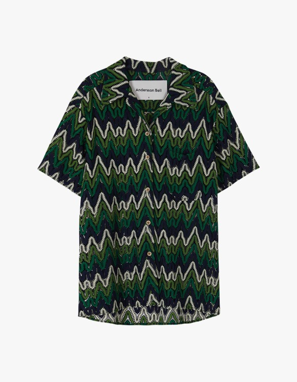 Andersson Bell Applique half Sleeve Shirts - Green | HEIGHTS. | 하이츠 온라인 스토어