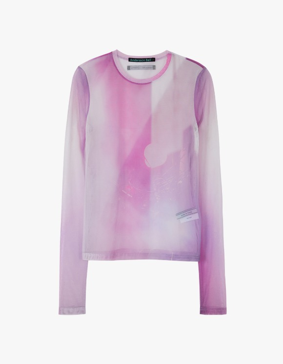 Andersson Bell Film Archive Stretch Mesh Top - Pink | HEIGHTS. | 하이츠 온라인 스토어