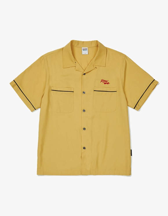 Know Wave [5월 27일 예약발송] Know Wave Bowling S/S Shirt - Yellow | HEIGHTS. | 하이츠 온라인 스토어
