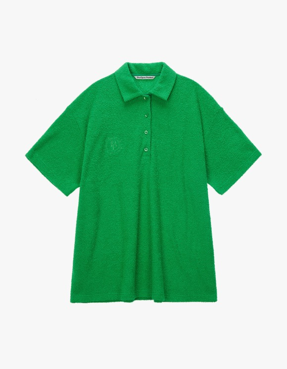TheOpen Product Terry Collared S/S Tee - Green | HEIGHTS. | 하이츠 온라인 스토어