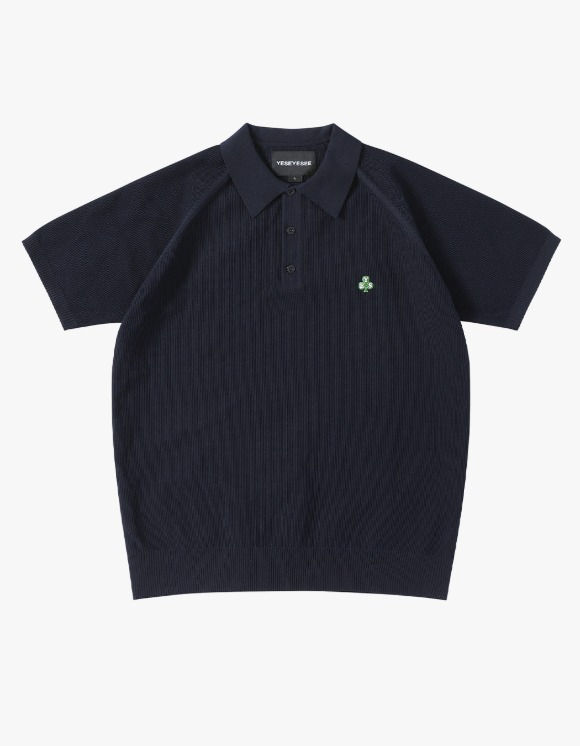 yeseyesee Y.E.S Knit PK Shirts - Navy | HEIGHTS. | 하이츠 온라인 스토어