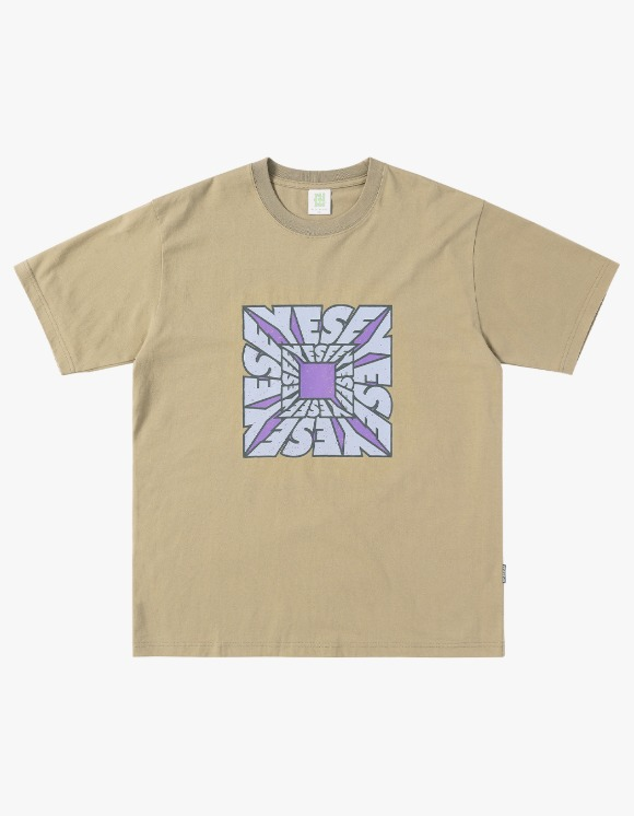 yeseyesee Y.E.S Square Tee - Beige | HEIGHTS. | 하이츠 온라인 스토어