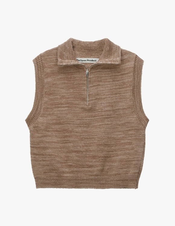 TheOpen Product Zip High Neck Knit Vest - Brown | HEIGHTS. | 하이츠 온라인 스토어