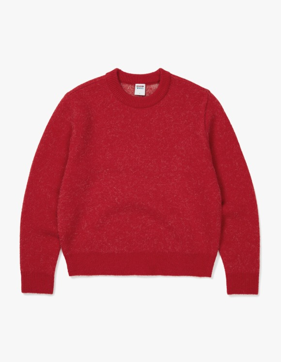 Know Wave Knowwave Mohair Jacquard Sweater - Red | HEIGHTS. | 하이츠 온라인 스토어