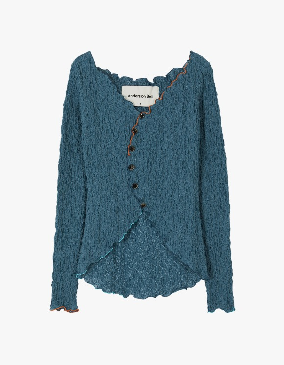 Andersson Bell Francis Asymmetric Hippie Cardigan - Blue | HEIGHTS. | 하이츠 온라인 스토어